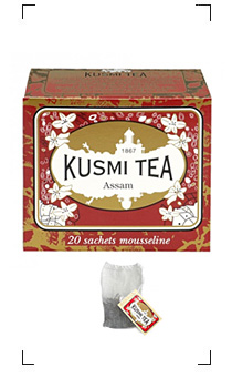 Kusmi Tea / ASSAM 20 SACHETS MOUSSELINES