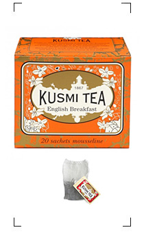 Kusmi Tea / ENGLISH BREAKFAST 20 SACHETS MOUSSELINES