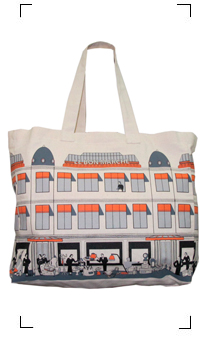Le Bon Marche / BON MARCHE COTTON ECOBAG GRIS GRAND MODEL