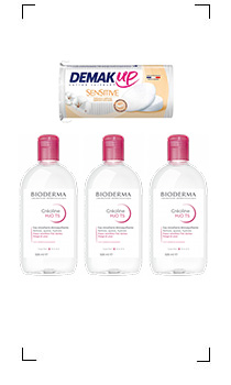 Bioderma / CREALINE TS H2O SOLUTION MICELLAIRE X 3PIECES AVEC COTTON